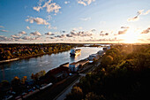 Kiel Canal near Kiel, Schleswig-Holstein, Germany