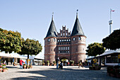 Holsten Gate reproduction, amusement park Hansa Park, Sierksdorf, Schleswig-Holstein, Germany