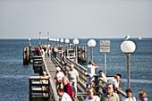 Pier, Kuhlungsborn, Bay of Mecklenburg, Mecklenburg-Vorpommern, Germany