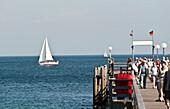 Jetty, Kuhlungsborn, Bay of Mecklenburg, Mecklenburg-Vorpommern, Germany