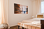 Photographic print in bedroom, Hamburg, Germany