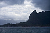Dramatic Sky & Mountains, near Trollfjord, Finnmark, Norway, Europe