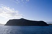 Silhouette of Wind Wheels on Hillside, near North Cape, Finnmark, Norway, Europe