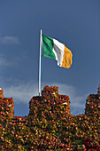 Irish flag atop Waterford Castle, Waterford, Waterford County, Ireland