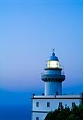 Lighthouse at night. Igeldo. San Sebastián. Guipúzcoa. Basque country. Spain.