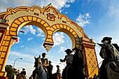 Feria de Abril The April Fair  ´El Real´  Main gate  Seville, Andalusia, Spain
