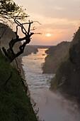The Murchison Falls of the river nile in Uganda during sunset  Africa, East AFrica, Uganda, January 2008