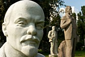 Many statues of Lenin in Sculpture Park in Moscow where they were collected after the end of the Soviet Union