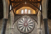 The Round Table, The Great Hall, Winchester, Hampshire, England, UK