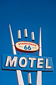 Route 66 - Vintage motel signs adorn the roadside of the US´s famous ´mother road´, Route 66