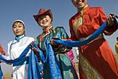 Welcome Mongolian ceremony, Huhenuoer grassland, Inner Mongolia, China