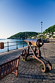 England Devon Dartmouth South Embankment and cannon