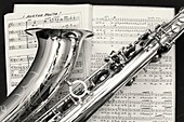 saxophone and score