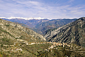 The picturesque village of Utelle in the Mercantour national park Alpes-MAritimes 06 France Europe