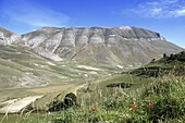 Rugged landscape of Monti Sibellini National Park Umbria Italy