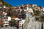 Cinque, Dorf, Gebäude, Haus, Häuser, Italien, Liguria, Ligurien, Manarola, Stadt, Terre, XG3-943463, agefotostock
