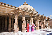 People visiting Mahavira Jain Temple, Osian, near Jodhpur, Rajasthan, India
