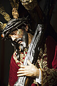 Our Father Jesus de las Tres Caidas by Alonso Martinez  17th century). It belongs to the Hermandad de San Isidoro that goes in procession on Good Friday, Seville. Andalusia, Spain