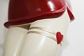 Close-up of legs on ornamental figure