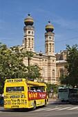 Nagy Zsinagoga, the great synagogue in Jewish quarter, Budapest, Hungary Europe