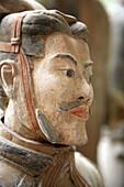 Archaeology, Army, Art, Arts, Asia, China, Close-up, Closeup, Color, Colour, Head, Heads, headshot, headshots, Historic, Historical, History, indoor, indoors, interior, Mausoleum, Mausoleums, portrait, portraits, power, Sculpture, Sculptures, Shaanxi, Sha