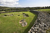 Drumena Cashel stone fort ancient irish defensive works built with walls 3 metres thick to protect a small farmstead in early christian times county down northern ireland uk