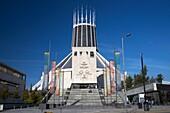 Liverpools metropolitan catholic cathedral of christ the king merseyside england uk