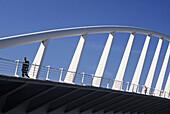 Spain. Comunidad Valenciana. Valencia. Calatrava brigde in Turia riverbed