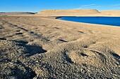 arctic desert landscape at Erebus and Terror Bay, Devon, Beechey Island, Northwest Passage, Nunavut, Canada, Arctic
