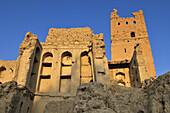 historic adobe fortification at Al Faiqain near Manah, Dakhliyah Region, Sultanate of Oman, Arabia, Middle East
