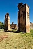 historic ruin near Fasiladas Archive, Royal Enclosure Fasil Ghebbi, UNESCO World Heritage Site, Gonder, Gondar, Amhara, Ethiopia, Africa