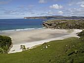 Sandy beach at Sangobeg near Durness in northern Scotland