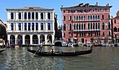 Italy, Venice, Grand Canal, gondola, palaces