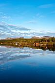 Mitternachtssonne, Lappenpforte, See Torneträsk, Abisko Nationalpark, Lappland, Nordschweden, Schweden