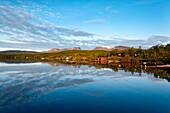 Mitternachtsonne, Lappenpforte, See Torneträsk, Abisko Nationalpark, Lappland, Nordschweden, Schweden