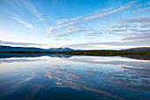 Abendlicht am See Torneträsk, Abisko Nationalpark, Lappland, Nordschweden, Schweden