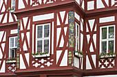 Adelsheimer Hof (erbaut 1807-09), Rathaus (seit 1912), Nassau, Detail, Lahn, Rheinland-Pfalz, Deutschland, Europa