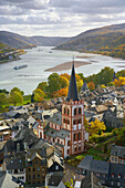 View to church St. Peter, Bacharach, Rhineland-Palatinate, Germany