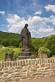Saint John of Nepomuk bridge over river Ahr, Rech, Rhineland-Palatinate, Germany