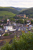 View at Ahrweiler, Bad Neuenahr-Ahrweiler, Ahr, Eifel, Rhineland-Palatinate, Germany, Europe