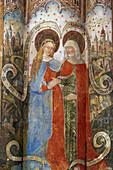 Fresco in the collegiate church St. Martin and St. Severus at Münstermaifeld, Mayen-Koblenz, Eifel, Rhineland-Palatinate, Germany, Europe
