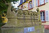 Neumagener Weinschiff, Neumagen-Dhron, Ältester Weinort Deutschlands, Weinanbaugebiet, Mosel, Rheinland-Pfalz, Deutschland, Europa