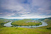 Moselle loop with Leiwen and Trittenheim, Rhineland-Palatinate, Germany