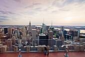 Midtown Manhattan from RCA Building, New York City, USA
