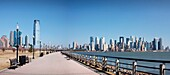 New Jersey and downtown Manhattan skylines, New York City, USA