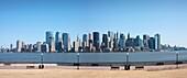 Downtown Mahattan panorama, New York City, USA