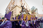 Good Friday procession with float by Baroque sculptor Francisco Salzillo, Murcia, Spain