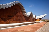 Ysios winery building designed by architect Santiago Calatrava, Laguardia, Rioja Alavesa, Araba, Basque Country, Spain