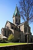 D-Essen, Ruhr area, North Rhine-Westphalia, Cultural Capital 2010, D-Essen-Werden, Werden monastery, Benedictine monastery, Saint Ludgerus monastery, Basilica St Ludgerus, Romanesque style, Gothic