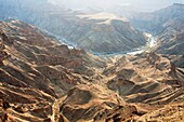 Namibia - The Fish River Canyon is with a length of 160 km the second largest canyon in the world and the largest in Africa Ai-Ais Richtersfeld Transfrontier Park, Namibia